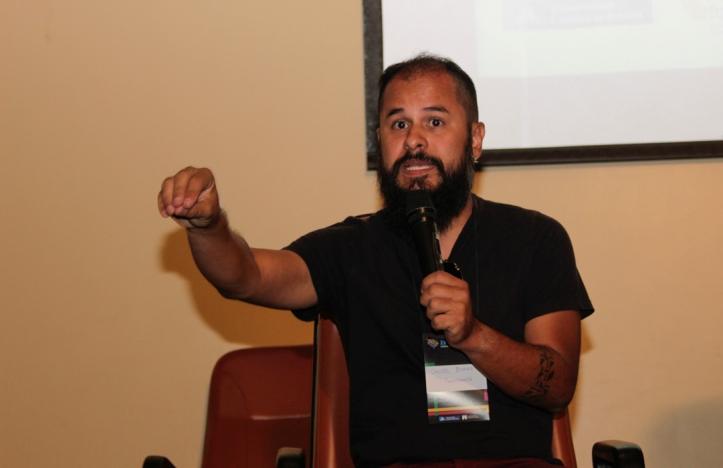 Daniel Zukko, autor do Minha Brasília, durante a XV Secomunica. Foto: Karyne Nogueira