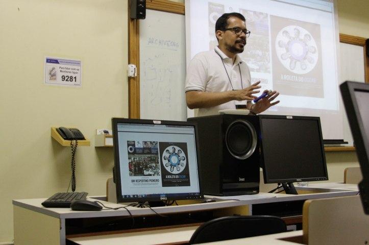 Prof. Dr. Rodrigo Cunha durante workshop. Foto: Gabriel Santos
