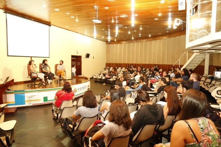 Palestra sobre produção audiovisual. Foto: Gabriel Santos